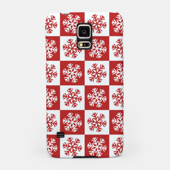 Thumbnail image of Snow flakes checkered  Samsung Case, Live Heroes