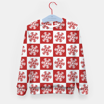 Thumbnail image of Snow flakes checkered  Kid's sweater, Live Heroes
