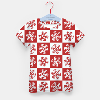 Thumbnail image of Snow flakes checkered  Kid's t-shirt, Live Heroes