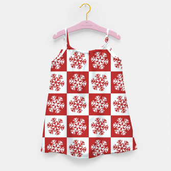 Thumbnail image of Snow flakes checkered  Girl's dress, Live Heroes
