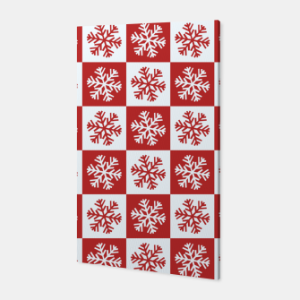 Thumbnail image of Snow flakes checkered  Canvas, Live Heroes