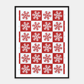 Thumbnail image of Snow flakes checkered  Framed poster, Live Heroes