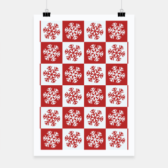 Thumbnail image of Snow flakes checkered  Poster, Live Heroes