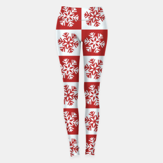 Thumbnail image of Snow flakes checkered  Leggings, Live Heroes
