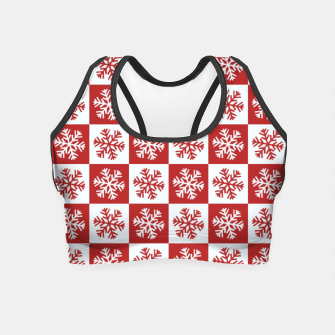 Thumbnail image of Snow flakes checkered  Crop Top, Live Heroes