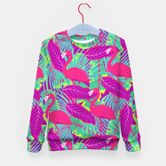 Thumbnail image of Tropical Flamingos Pattern Kid's sweater, Live Heroes