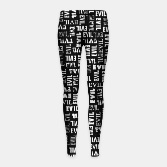 Thumbnail image of Evil All Over Girl's leggings, Live Heroes
