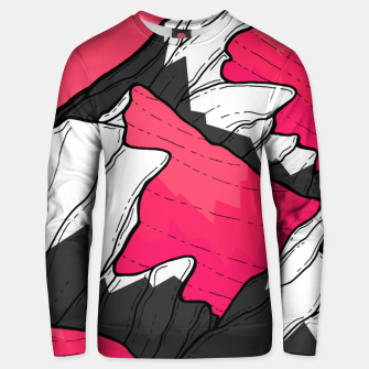 Thumbnail image of pink tone peaks Unisex sweater, Live Heroes