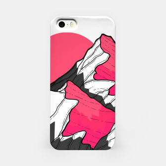 Thumbnail image of pink tone peaks iPhone Case, Live Heroes