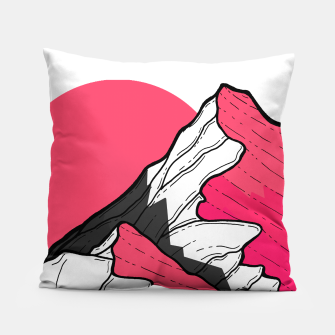 Thumbnail image of pink tone peaks Pillow, Live Heroes