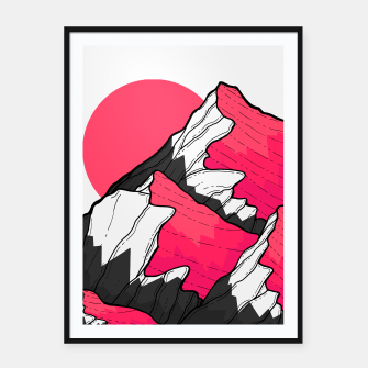 Thumbnail image of pink tone peaks Framed poster, Live Heroes