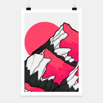 Thumbnail image of pink tone peaks Poster, Live Heroes