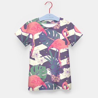 Thumbnail image of Flamingo pineapple Kid's t-shirt, Live Heroes