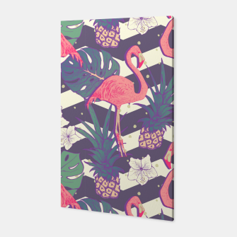 Thumbnail image of Flamingo pineapple Canvas, Live Heroes