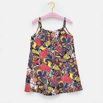 Thumbnail image of Colorful Floral Flowers Girl's dress, Live Heroes