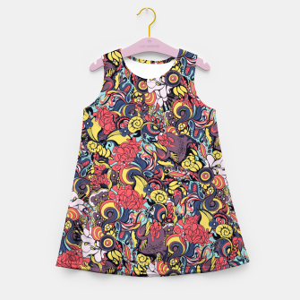 Thumbnail image of Colorful Floral Flowers Girl's summer dress, Live Heroes