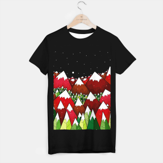 Imagen en miniatura de Winter Xmas Mountains T-shirt regular, Live Heroes