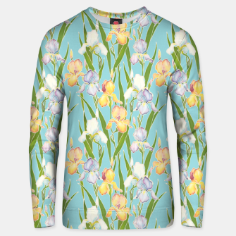 Thumbnail image of Irises in the sky Unisex sweater, Live Heroes