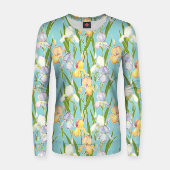 Thumbnail image of Irises in the sky Women sweater, Live Heroes