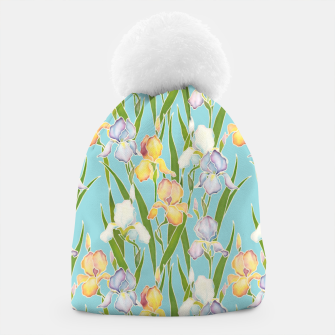 Thumbnail image of Irises in the sky Beanie, Live Heroes