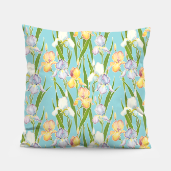 Thumbnail image of Irises in the sky Pillow, Live Heroes