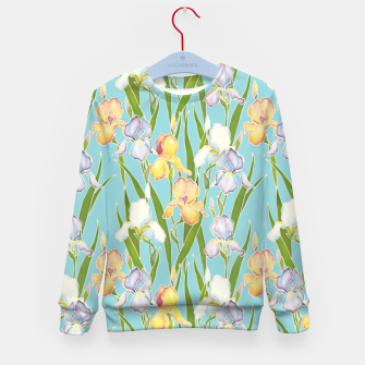 Thumbnail image of Irises in the sky Kid's sweater, Live Heroes