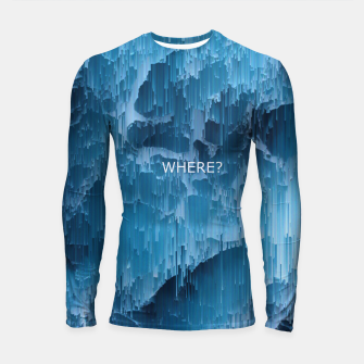 Thumbnail image of Where? Longsleeve rashguard , Live Heroes