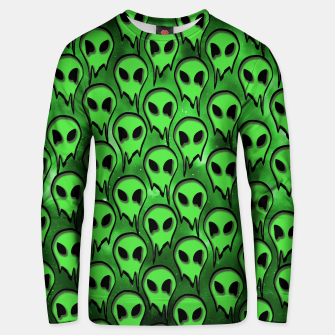 Thumbnail image of Green Alien Sweater, Live Heroes