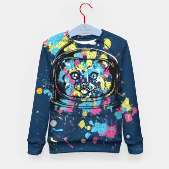 Thumbnail image of Colorful Cat Space Kid's sweater, Live Heroes