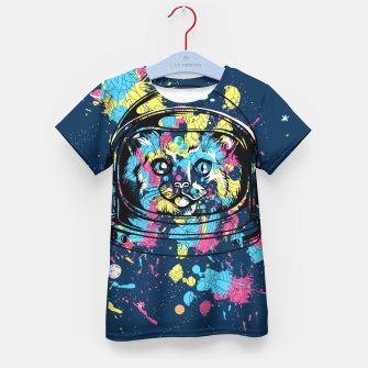 Thumbnail image of Colorful Cat Space Kid's t-shirt, Live Heroes