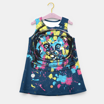 Thumbnail image of Colorful Cat Space Girl's summer dress, Live Heroes