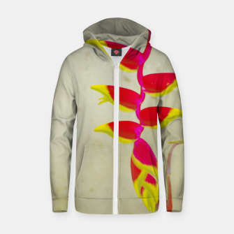 Thumbnail image of Heliconia 2 Zip up hoodie, Live Heroes