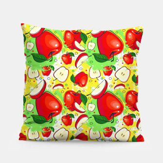 Thumbnail image of Apple Pattern Pillow, Live Heroes