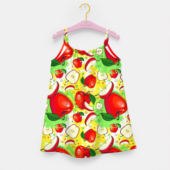 Thumbnail image of Apple Pattern Girl's dress, Live Heroes