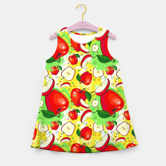 Thumbnail image of Apple Pattern Girl's summer dress, Live Heroes