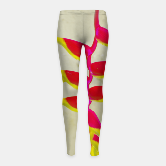 Thumbnail image of Heliconia 2 Girl's leggings, Live Heroes