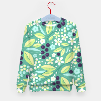 Thumbnail image of Blackcurrant Pattern Kid's sweater, Live Heroes