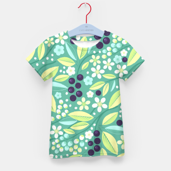 Thumbnail image of Blackcurrant Pattern Kid's t-shirt, Live Heroes
