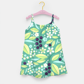 Thumbnail image of Blackcurrant Pattern Girl's dress, Live Heroes