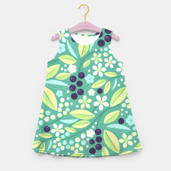 Thumbnail image of Blackcurrant Pattern Girl's summer dress, Live Heroes