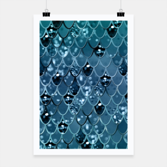 Thumbnail image of Teal Mermaid Scales Glam #2 #shiny #decor #art  Plakat, Live Heroes