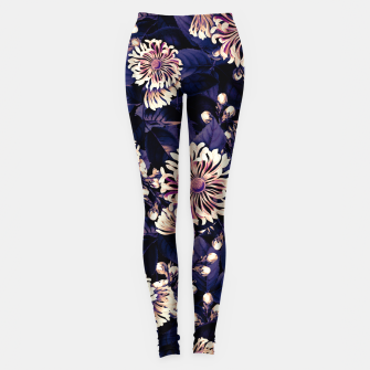 Miniaturka elysian flowers floral pattern 01 purple sunset Leggings, Live Heroes