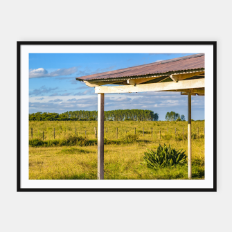 Thumbnail image of Rural Field Scene, San Jose Department, Uruguay Framed poster, Live Heroes