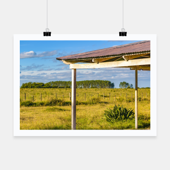 Thumbnail image of Rural Field Scene, San Jose Department, Uruguay Poster, Live Heroes