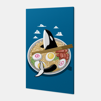 Thumbnail image of Ramen Killer Whale Canvas, Live Heroes