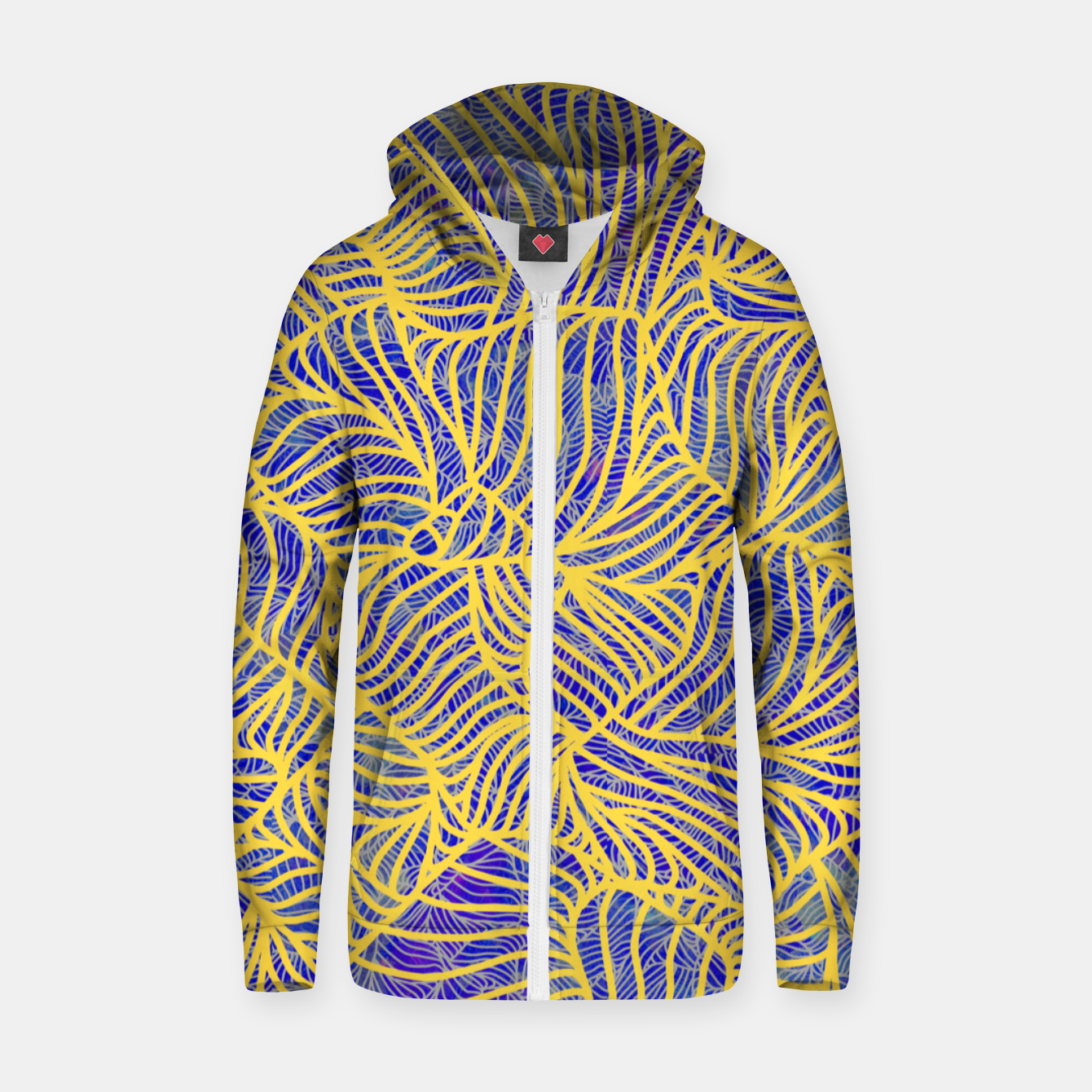Image of Gold Zip up hoodie - Live Heroes