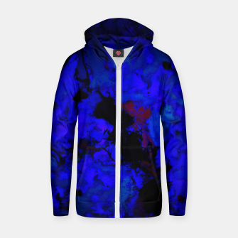 Thumbnail image of A dark blue crash Zip up hoodie, Live Heroes