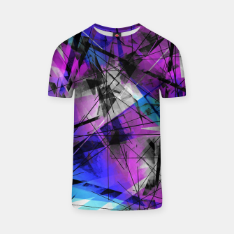 Thumbnail image of Lines of Departure - Futuristic Geometric Abstrct Art T-shirt, Live Heroes