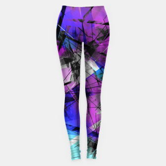 Thumbnail image of Lines of Departure - Futuristic Geometric Abstrct Art Leggings, Live Heroes