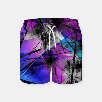 Thumbnail image of Lines of Departure - Futuristic Geometric Abstrct Art Swim Shorts, Live Heroes